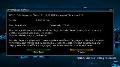 Subtitle & Audio Support - srt subtitles vu+solo | vuplus