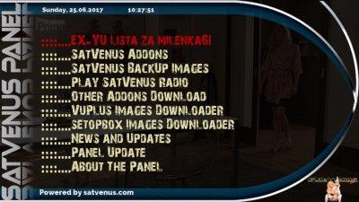 VU+ Plugins - Panels & Extra Url's - SatVenus Panel-Addon's